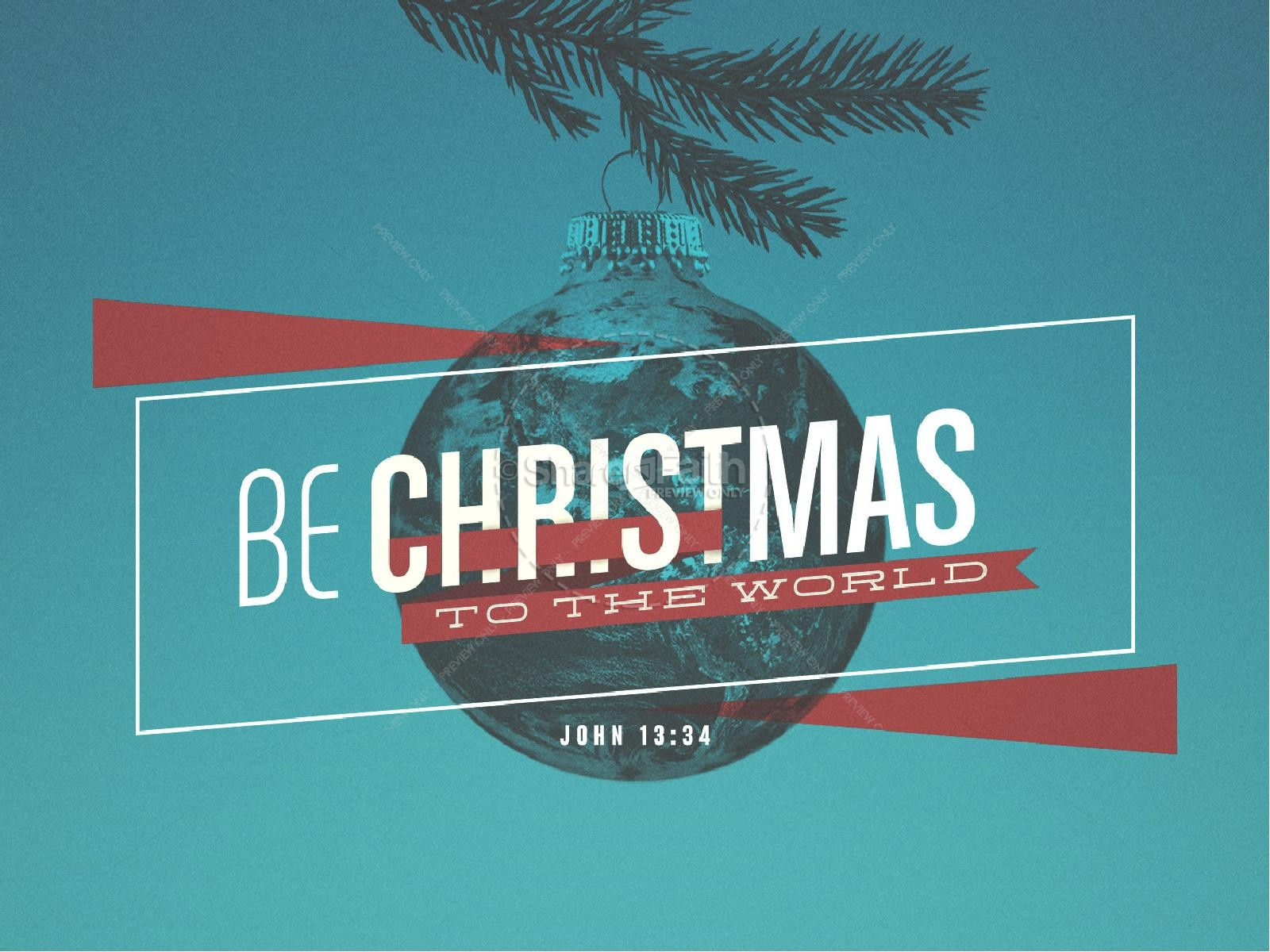 Be Christmas Church Powerpoint Christmas Powerpoints