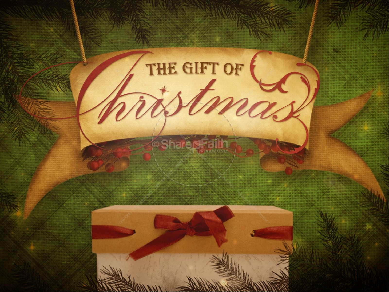 The Gift of Christmas Ministry PowerPoint