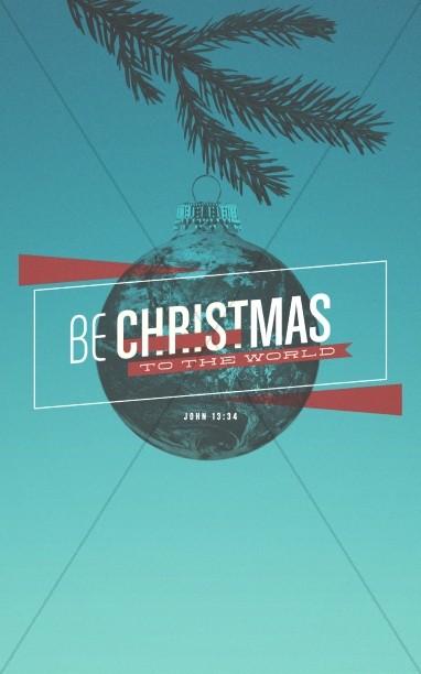 Be Christmas Church Bulletin