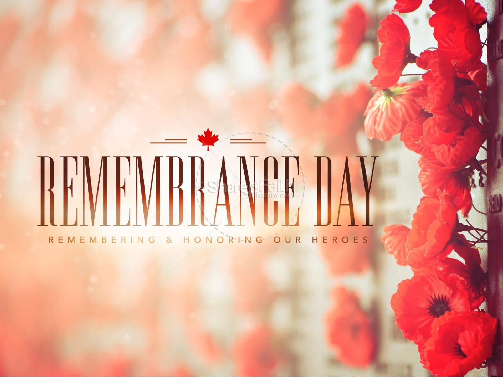 Remembrance Day Church PowerPoint