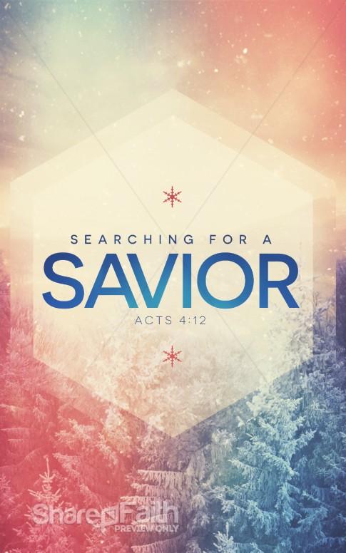 Searching For A Savior Christian Bulletin Christmas