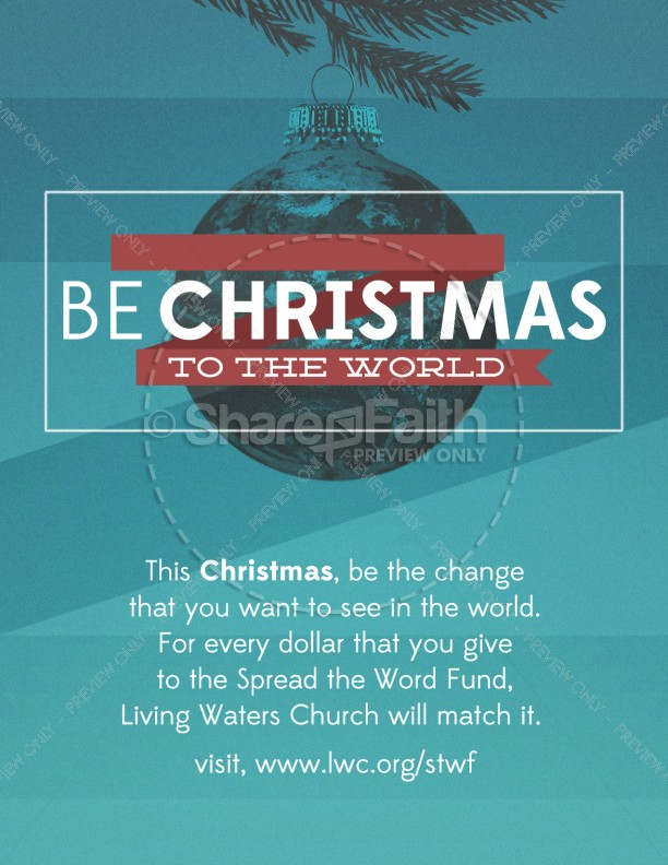 Be Christmas Church Flyer