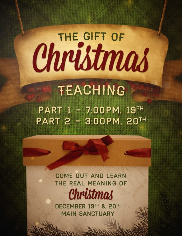 The Gift Christmas Ministry Flyer
