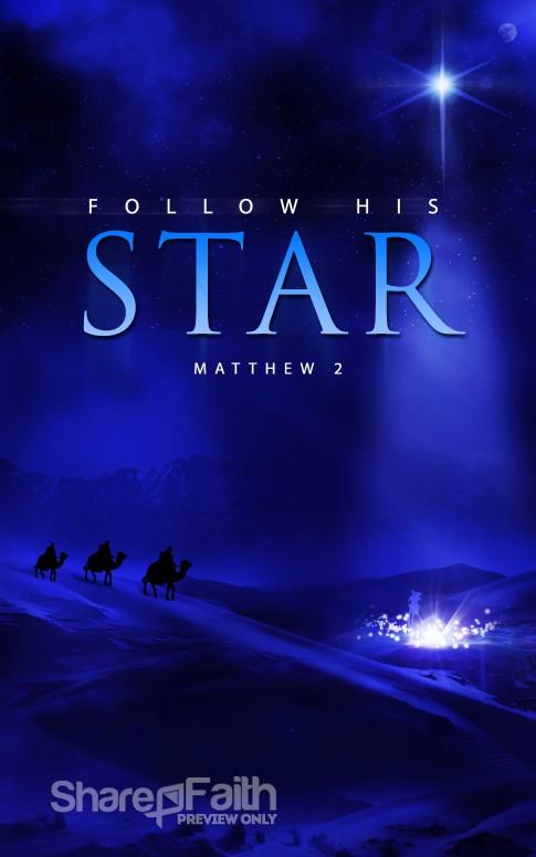 Follow His Star Christian Bulletin Christmas Bulletins