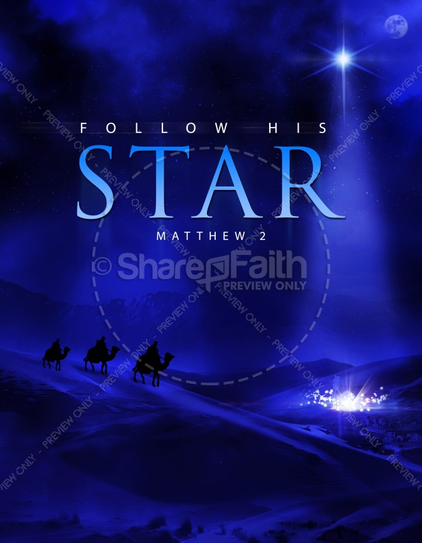 Follow His Star Christian Flyer | page 1