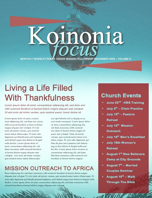 Be Christmas Church Newsletter