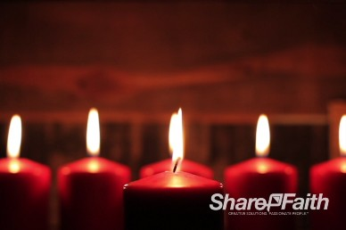 Christmas Candles Worship Video Loop