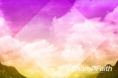 Shapes and Clouds Worship Video Background
