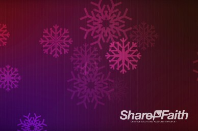 Snowflake Grid Christian Worship Video Background
