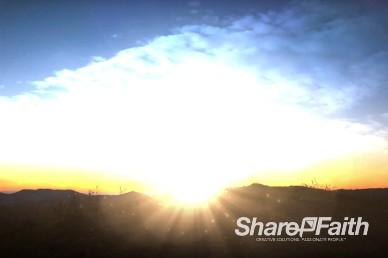 Sunset Worship Landscape Ministry Worship Video Background