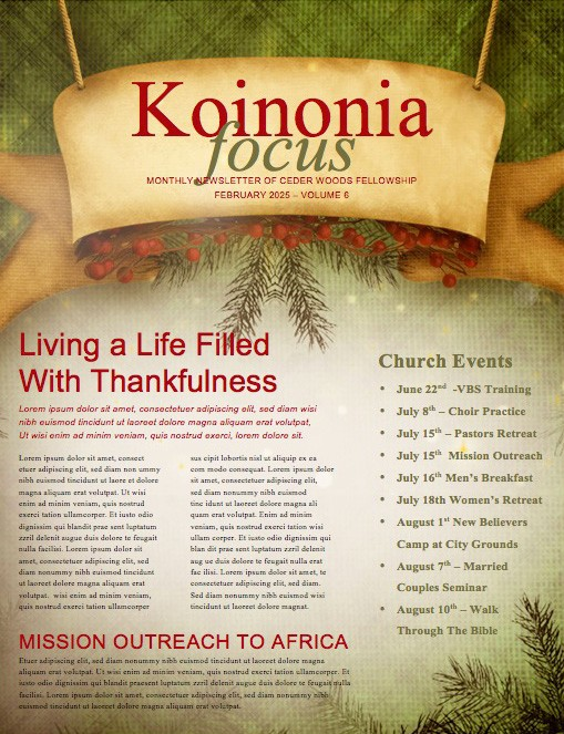 The Gift of Christmas Ministry Newsletter