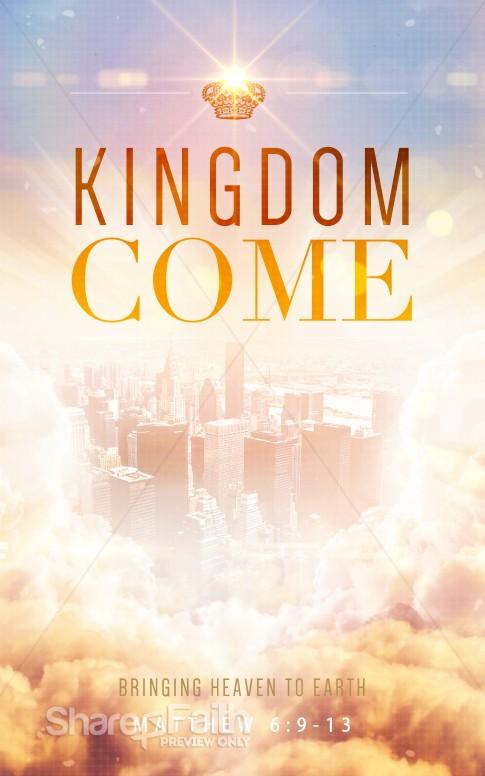Kingdom Come Ministry Bulletin Sermon Bulletin Covers