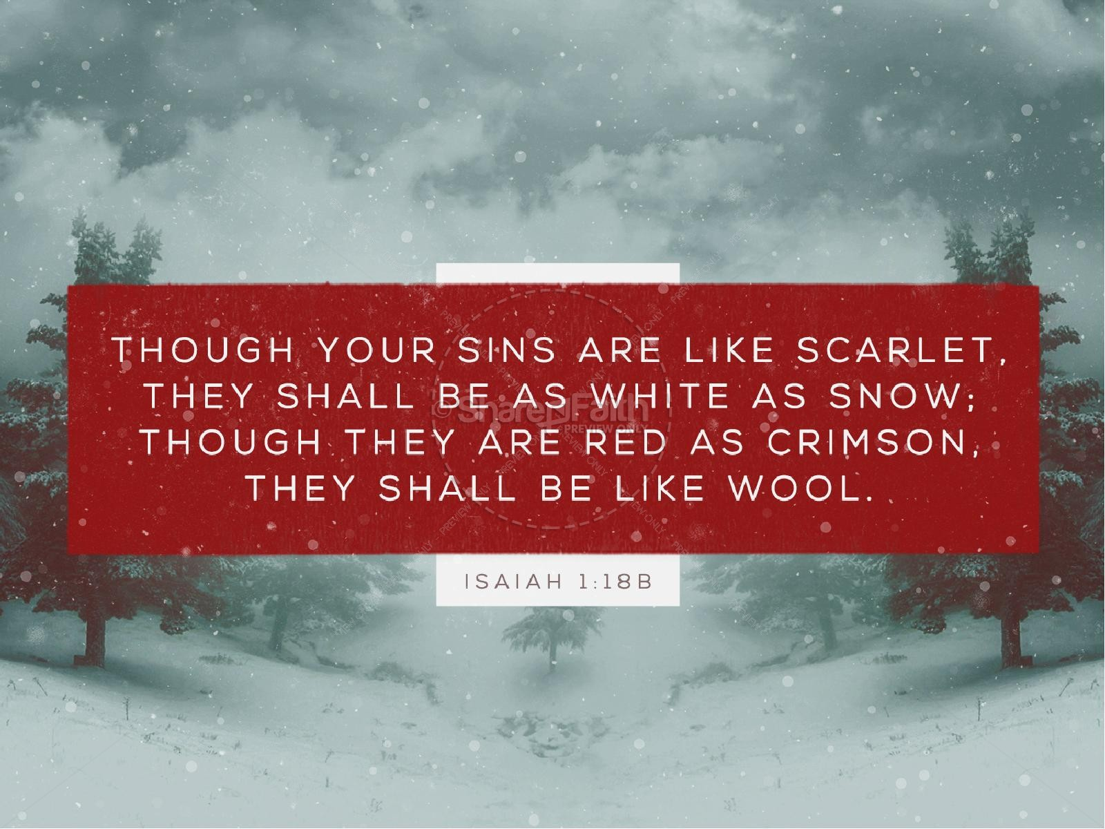 White as Snow Christian PowerPoint