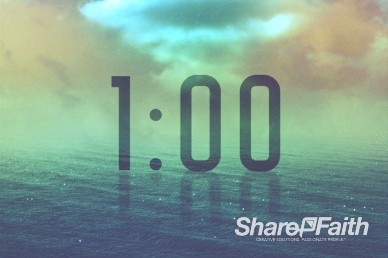 Following Jesus Christian One Minute Countdown Timer