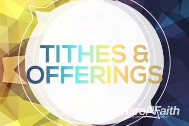 Power of Prayer Church Tithes and Offerings Motion Background Video