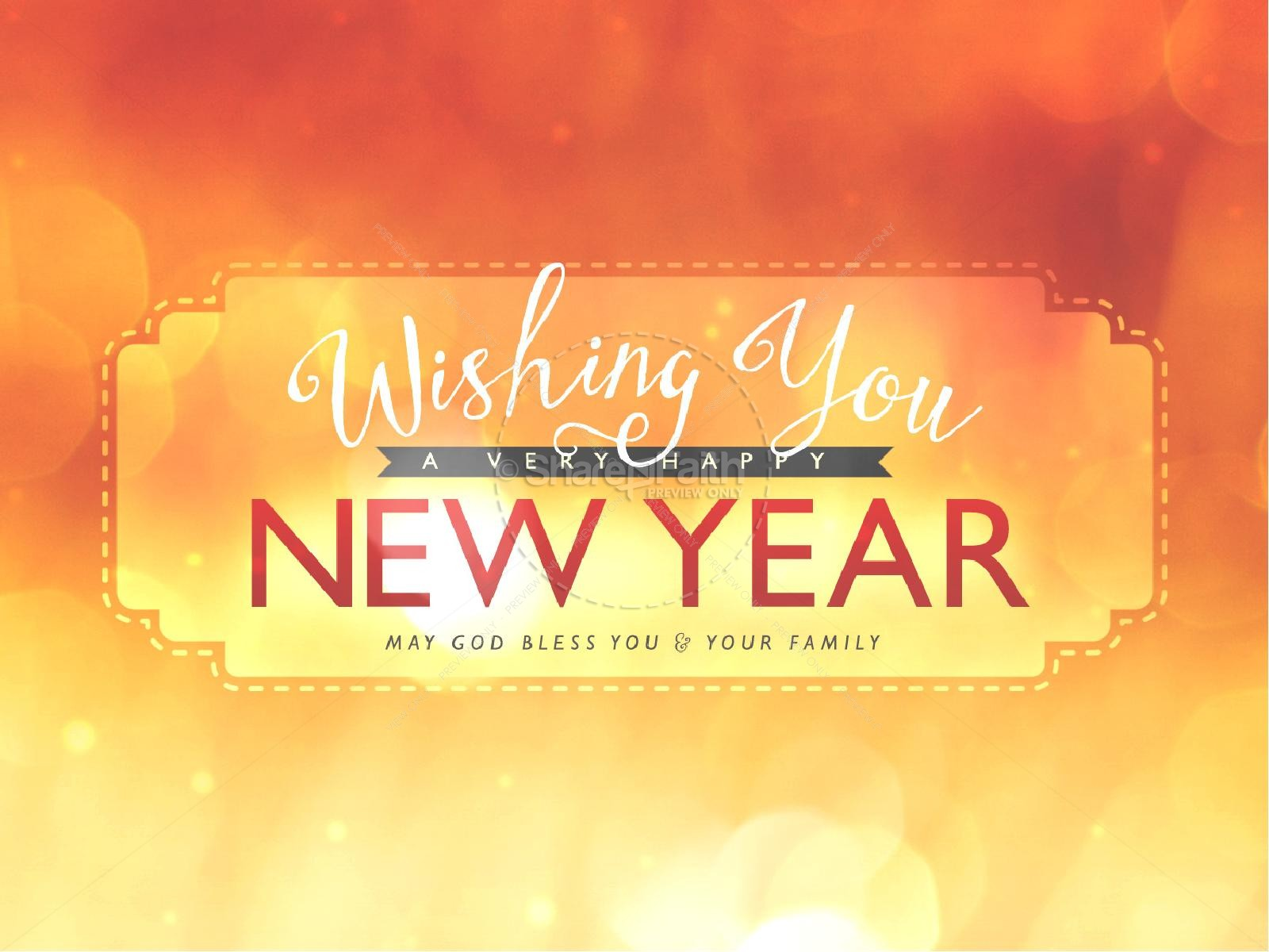 Wishing a Happy New Year Ministry PowerPoint