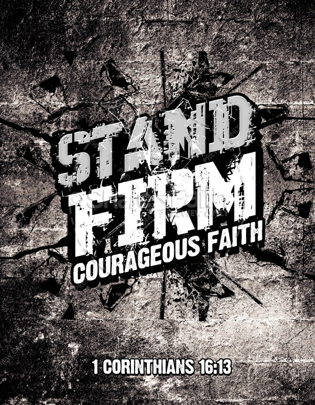 Stand Firm Religious Flyer