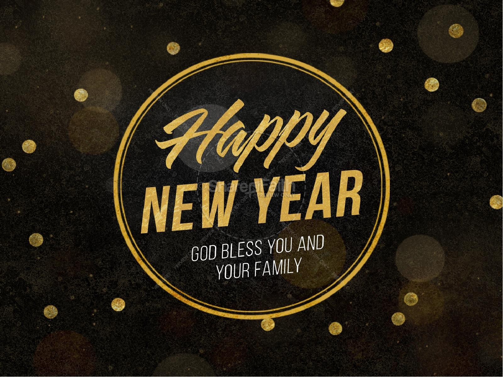 Happy New Year Blessings Church PowerPoint