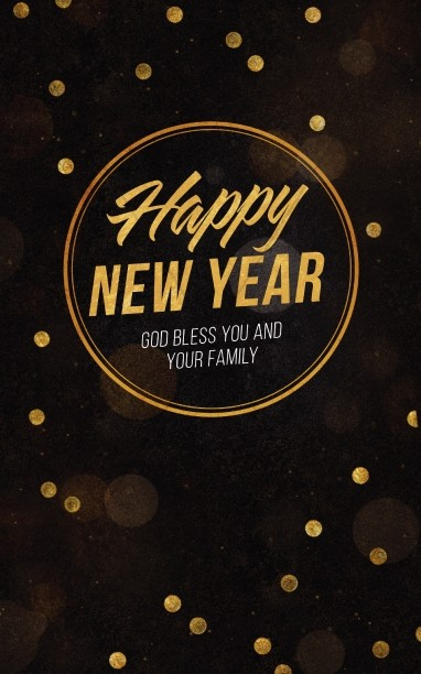 Happy New Year Blessings Church Bulletin
