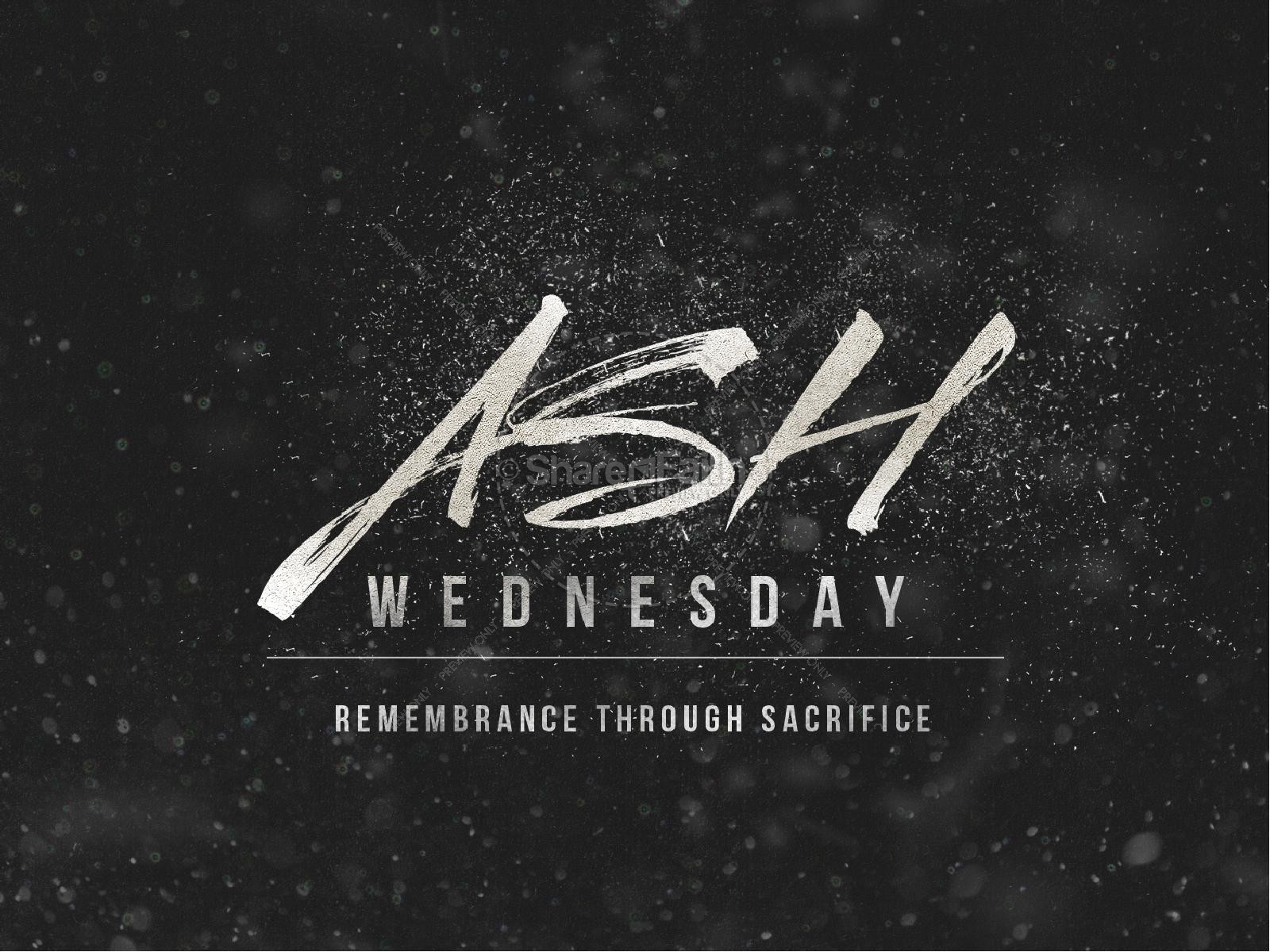 Ash Wednesday Remembrance Ministry PowerPoint | slide 1