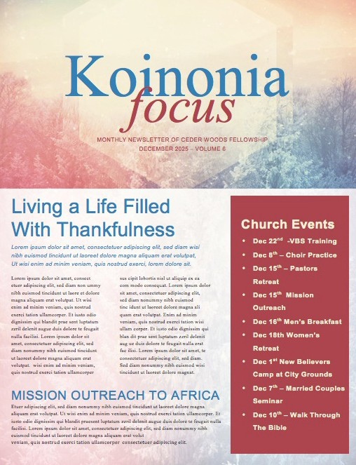Searching for a Savior Christian Newsletter