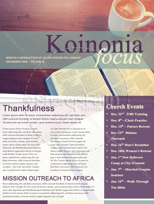 ... Bible Study Ministry Newsletter Template | Newsletter Templates