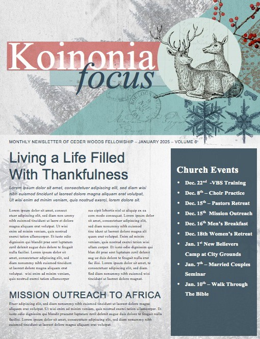 Winter Retreat Christian Newsletter