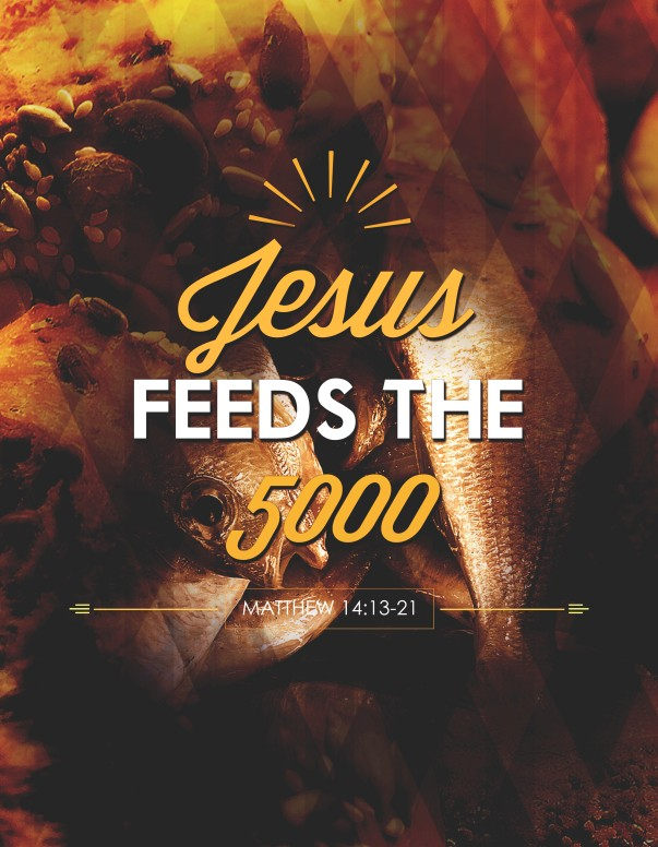 Jesus Feeds Five Thousand Church Flyer