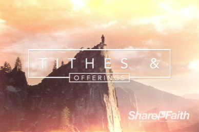 Confident Christian Tithes and Offerings Video Loop