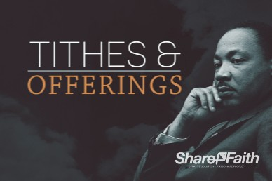 Martin Luther King Jr Day Church Tithes and Offerings Video Background