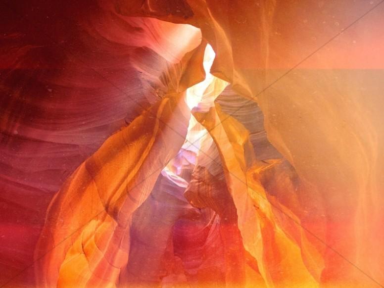 Brilliant Cave Religious Background