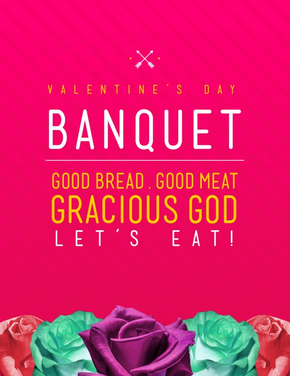 Valentine's Day Banquet Christian Flyer