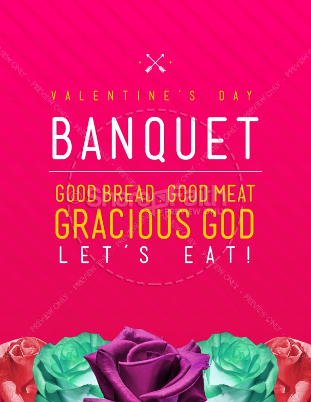 Valentine's Day Banquet Christian Flyer Template | Flyer Templates