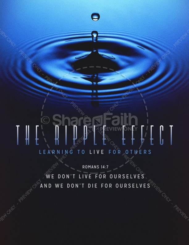 The Ripple Effect Christian Flyer
