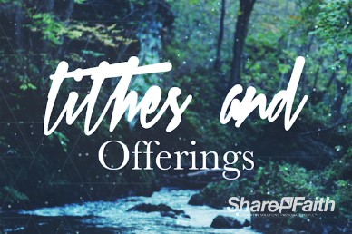Amazing Grace Christian Tithes and Offerings Video