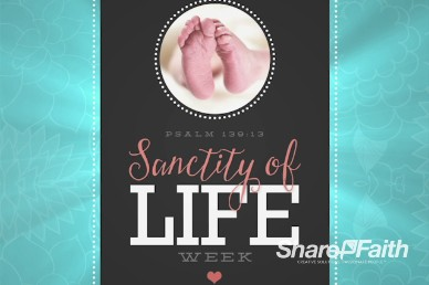 Sanctity of Life Week Christian Background Video