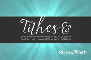 Sanctity of Life Week Christian Tithes and Offerings Motion Background