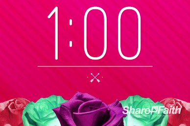 Valentine's Day Banquet Christian One Minute Countdown Timer