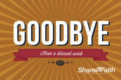 Big Game Party Ministry Goodbye Background Video