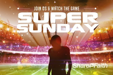 Super Sunday Ministry Game Invite Background Video