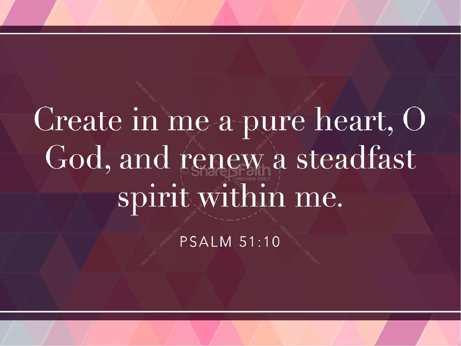 A Pure Heart Christian PowerPoint | slide 4
