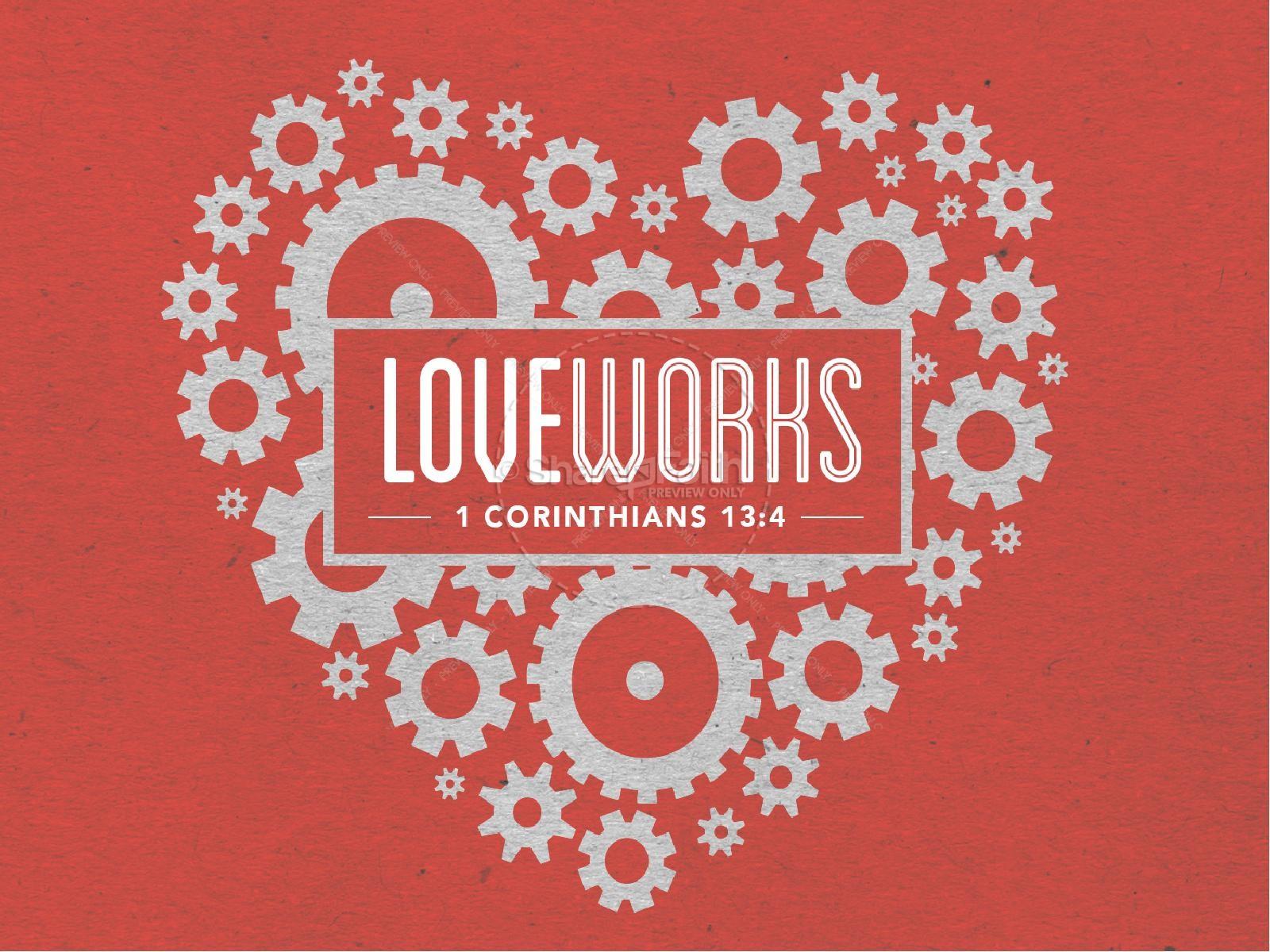 Love Works Church PowerPoint Valentines Day PowerPoints
