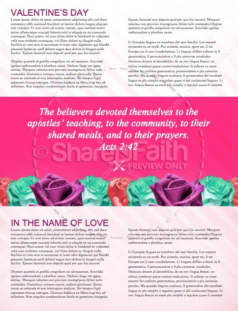 Valentine's Day Banquet Christian Newsletter