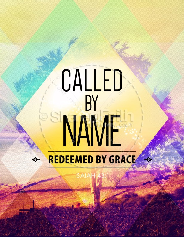 called by name church flyer template