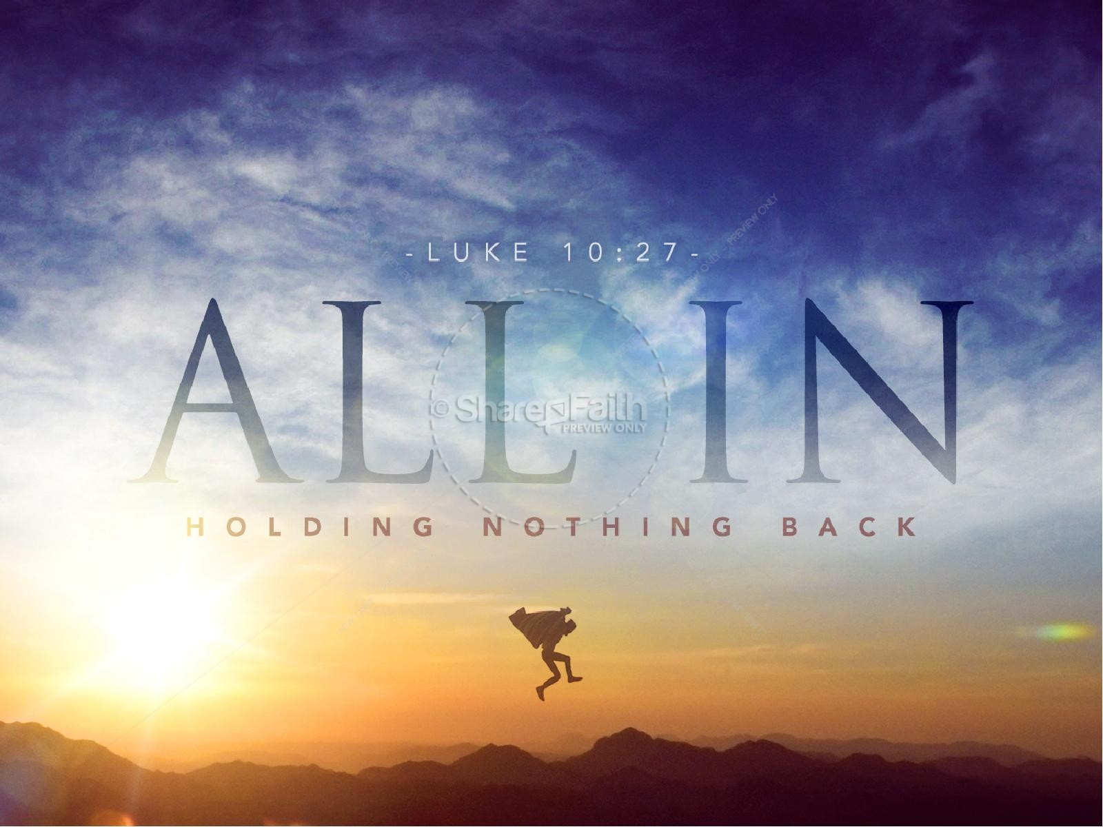 All In Hold Nothing Back Christian PowerPoint