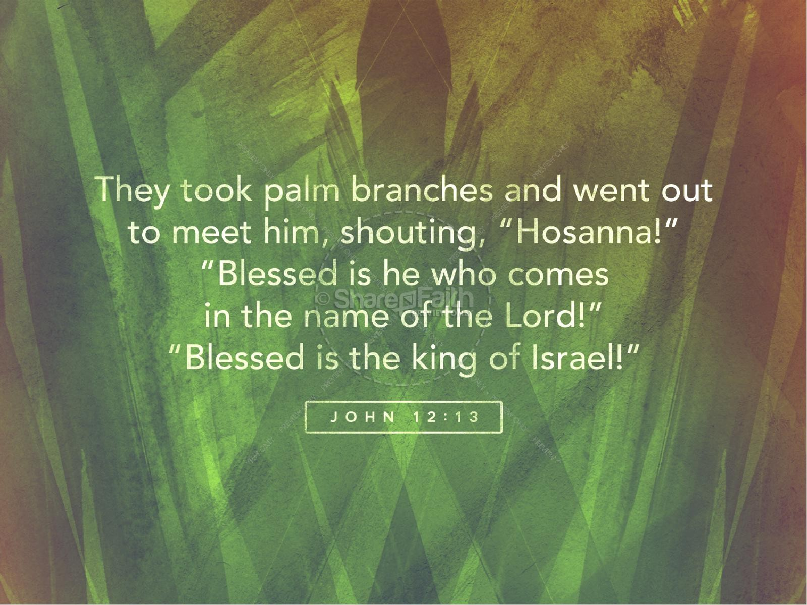Palm Sunday Religious PowerPoint | slide 4