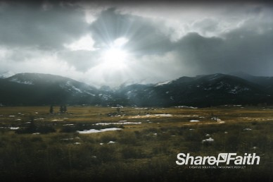 Snow Cap Sunrise Service Church Video Background