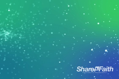 Aqua Blue Green Abstract Particle Religious Video Background