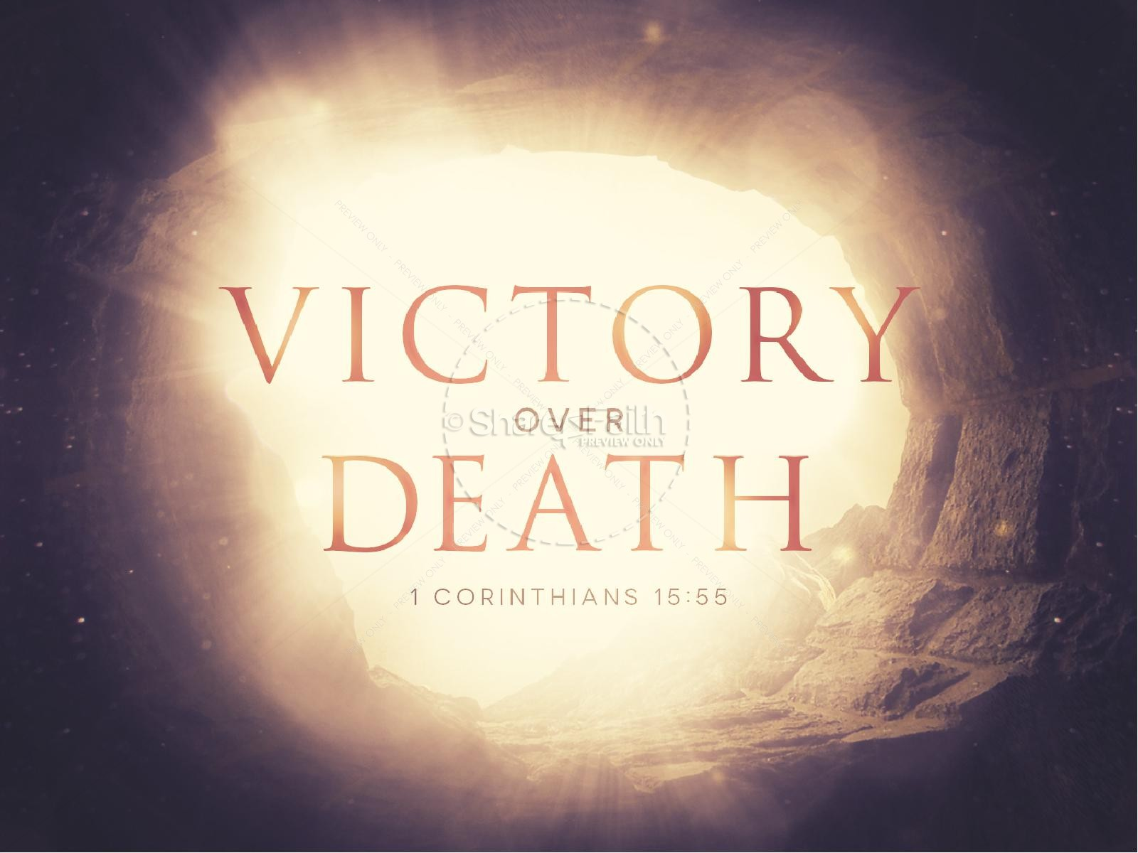 Victory Over Death Easter PowerPoint | slide 1