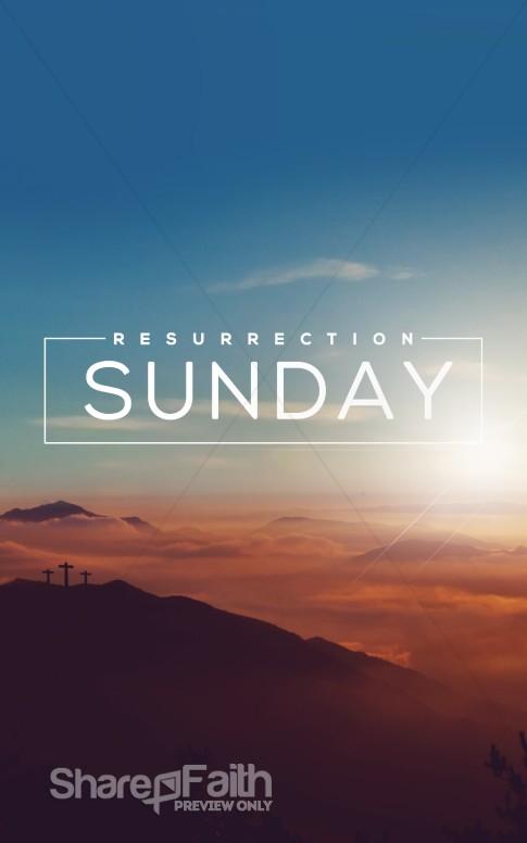resurrection sunday religious bulletin